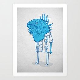 Guayaquil - Mr Iguana Art Print