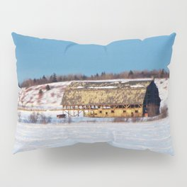 Barn gets a little glow from the Sun as it sits, waiting to be torn apart. Pillow Sham