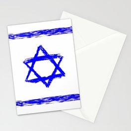 flag of israel 9-יִשְׂרָאֵל ,israeli,Herzl,Jerusalem,Hebrew,Judaism,jew,David,Salomon. Stationery Cards