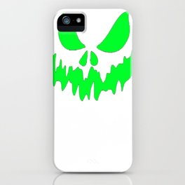 Scary Face Halloween Tshirt- Glow in the Dark Effect Print iPhone Case