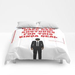 Pulp Fiction - Jules Winnfield Quote Comforters