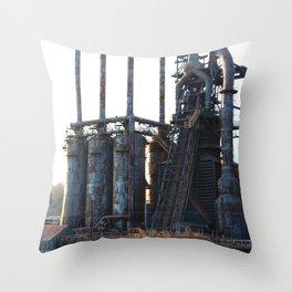 Bethlehem Steel Blast Furnaces 9  Throw Pillow