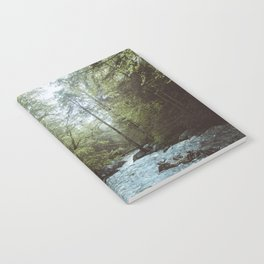 Peaceful Forest, Green Trees and Creek, Relaxing Water Sounds Notebook