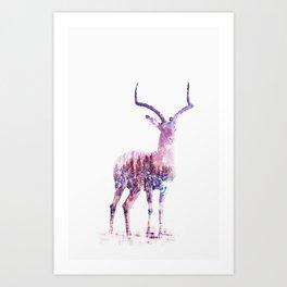 shiny deer Art Print