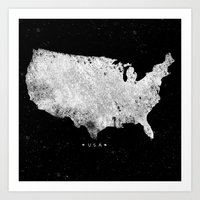 usa Art Prints featuring USA by Farnell
