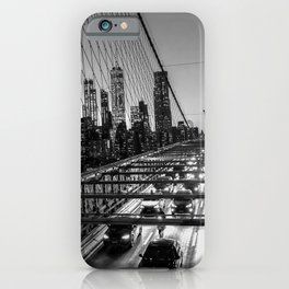 Crossing the Brooklyn Bridge iPhone Case