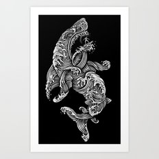 the Shark Art Print