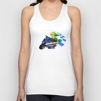 mario kart Tank Tops featuring Mario Kart 8 - Link on the Mastercycle by brit eddy