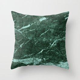 Dark Green Marble texture Throw Pillow