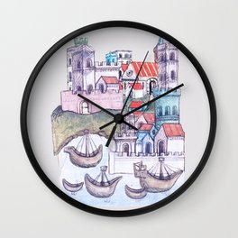 Imaginative journeying Wall Clock