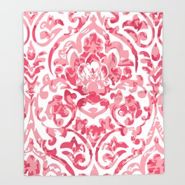 The pink baroque Throw Blanket