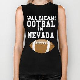 Fall Means Football In Nevada Biker Tank
