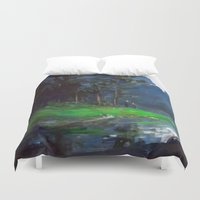 woods Duvet Covers featuring Woods by Camila Vielmond