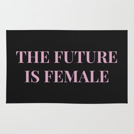 The future is female black-pink Rug