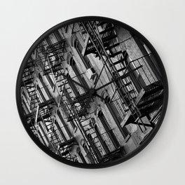 Fire escapes Wall Clock