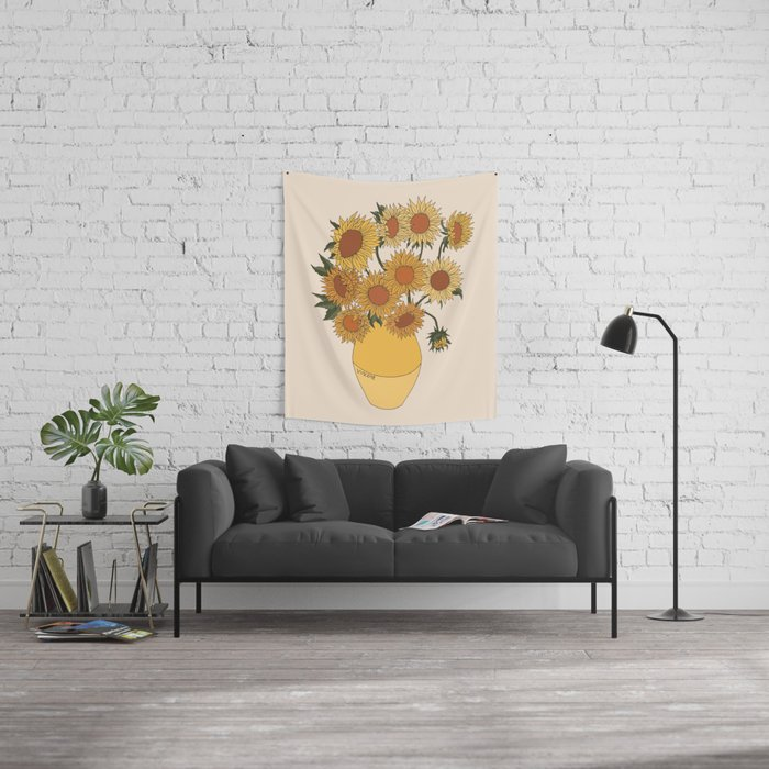 Van Gogh Sunflowers Wall Tapestry