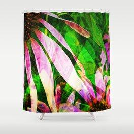 Medicinal Purple Flower Shower Curtain