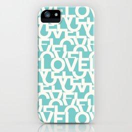 Hidden blue LOVE message iPhone Case
