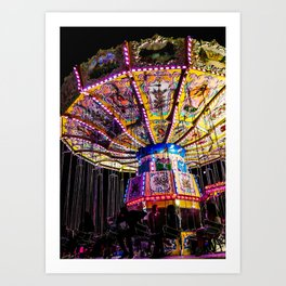 Spinning Silhouettes Art Print