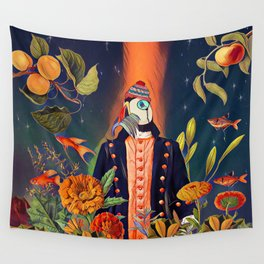 Floral Puffin Wall Tapestry