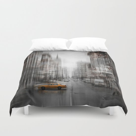 City-Art NYC 5th Avenue Duvet Cover