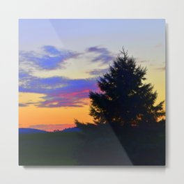 West Brome Sunset Landscape Metal Print