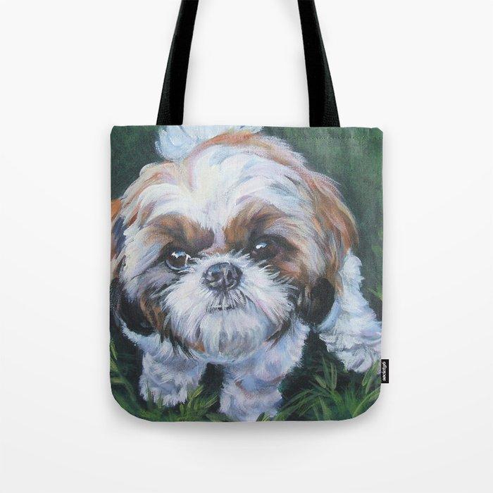 Shih Tzu Dog Portrait Illustration Tote Bag