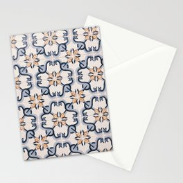 Blue Yellow Portugal Tiles #4 Stationery Cards