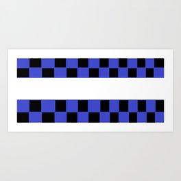 Black and blue chess board Art Print