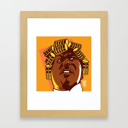 BIG WORM Framed Art Print