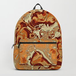 Red Orange Brown Marbled Mineral Stone Pattern Backpack