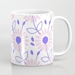 Pastel pink violet hand painted daisies floral pattern Coffee Mug