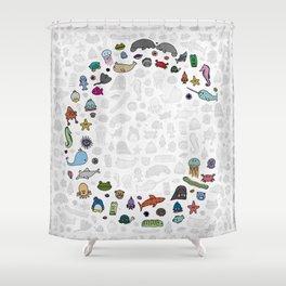 letter c - sea creatures Shower Curtain