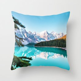 Lake Louise; Baniff, Canada Photographic Landscape color photography / photographs Throw Pillow