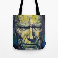 clint eastwood Tote Bags featuring Clint Eastwood by Boaz