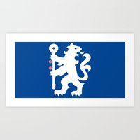 chelsea fc Art Prints featuring Chelsea FC by Khaled