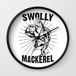 Swolly Mackerel Wall Clock