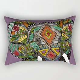 floral elephant violet Rectangular Pillow