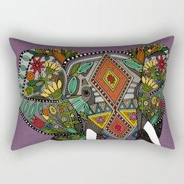 floral elephant violet Rectangular Pillow