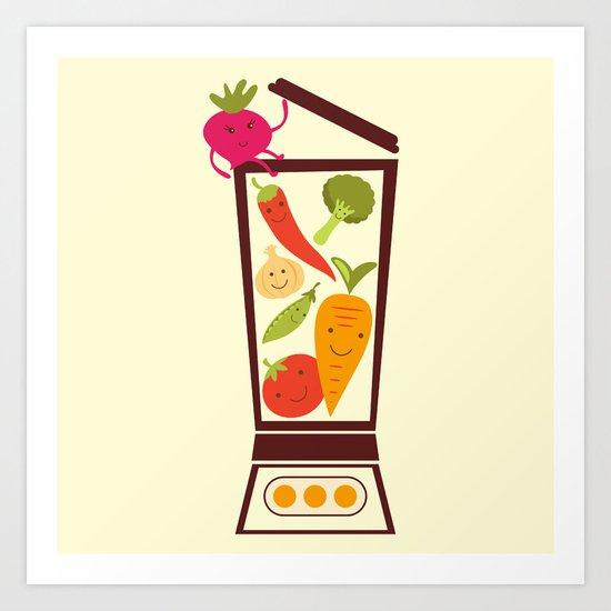 Vegetable smoothie Art Print