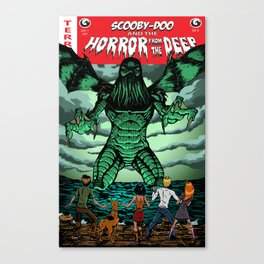 Horror From The Deep! Canvas Print