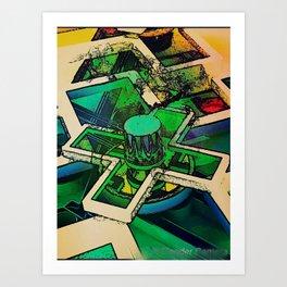 Abstrakt  colorfulm cul Art Print