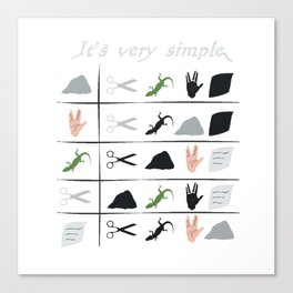 Rock paper scissors spock lizard Canvas Print