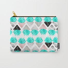 Marble Succulent Carry-All Pouch