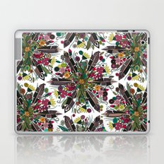 bohemian posy white Laptop & iPad Skin