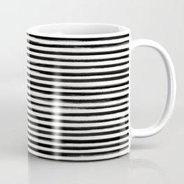 Skinny Stroke Horizontal Black on Off White Coffee Mug