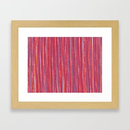 Stripes  - Candy pink red orange and blue Framed Art Print