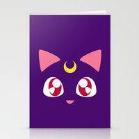 luna Stationery Cards featuring Luna by discojellyfish