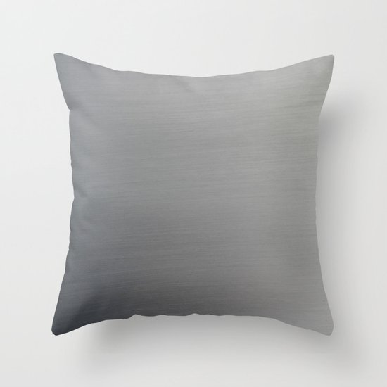 Brushed Metal Throw Pillow