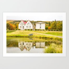 Reflections in Iceland Art Print